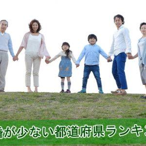 離婚が少ない都道府県ランキング